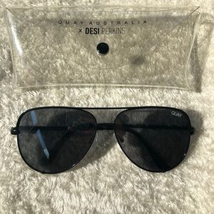 Quay Australia Desi High Key Black Sunglasses